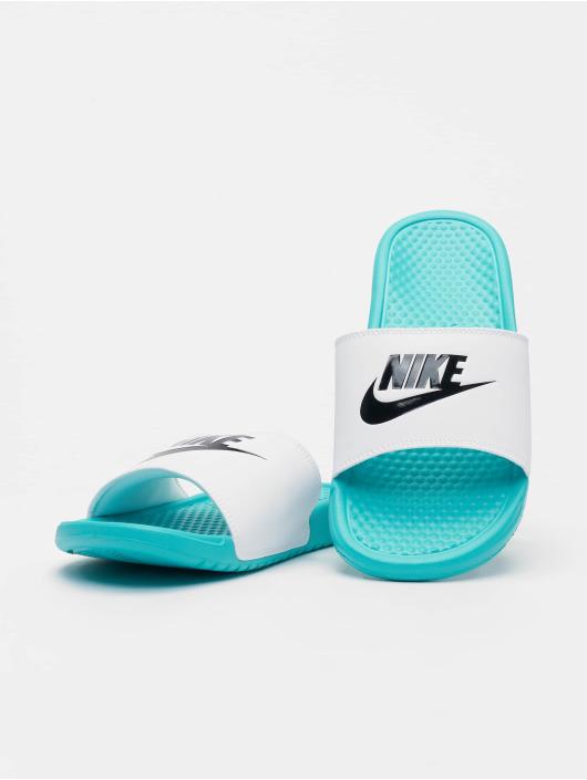 Nike Sandalen Benassi JDI türkis