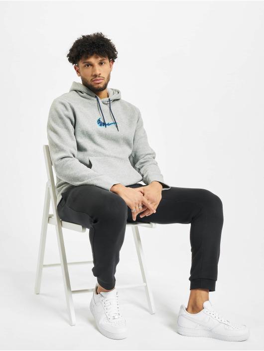 Nike SB Bluzy z kapturem Truck Fleece szary