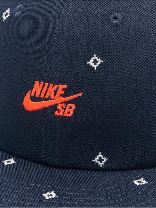 Nike SB Casquette Snapback & Strapback Unstruc FB AOP bleu
