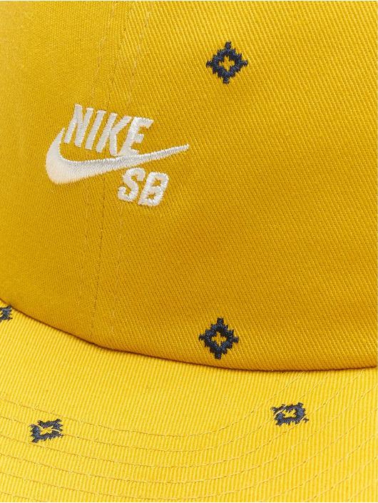 Nike SB Casquette Snapback & Strapback Unstruc FB AOP jaune