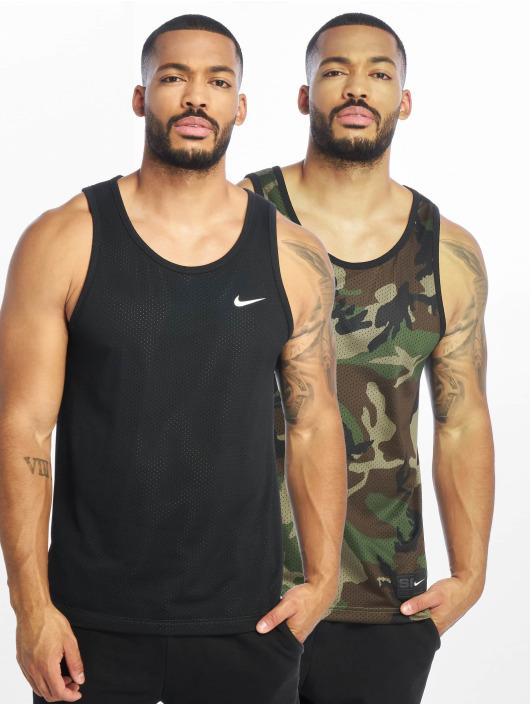 timeless design best website classic styles Nike SB Dry Mesh Erdl Tank Top Black/Medium Olive/White