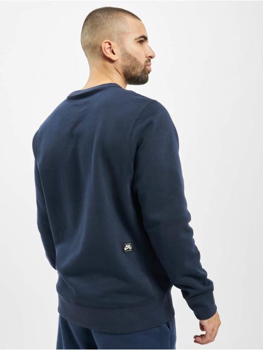 Nike SB Pullover Icon Crew Sunrise blau