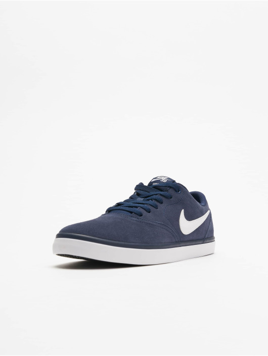 Nike SB Check Solarsoft Skateboarding Sneakers Midnight NavyWhite