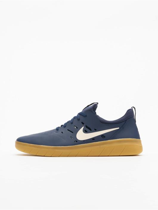 Nike SB Sneaker Nyjah Free Skateboarding blau