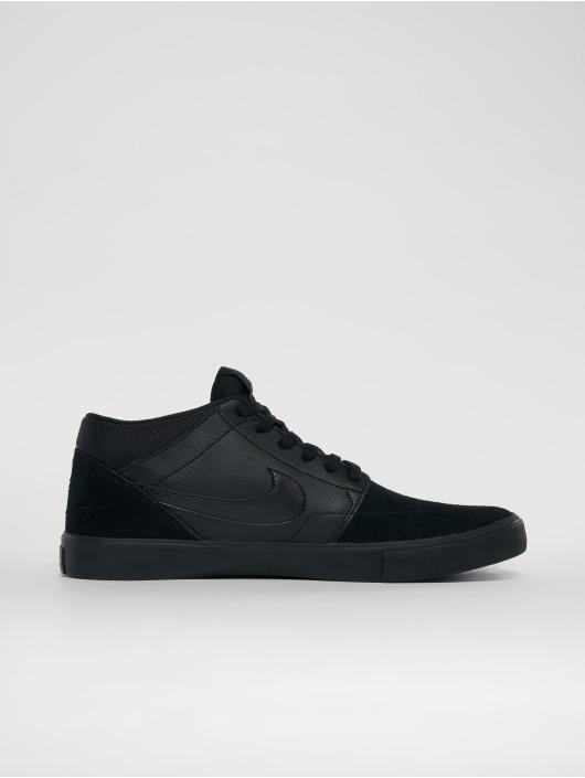 Nike SB Sneaker Solarsoft Portmore Ii Mid Skateboarding schwarz