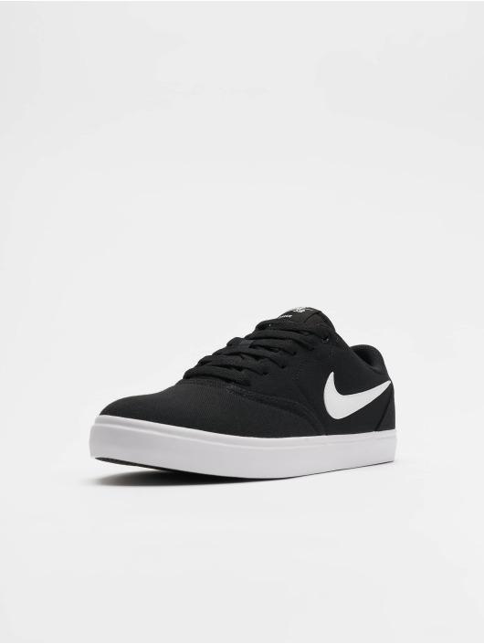 Nike SB Check Solar Canvas Sneakers BlackWhitePure Platinum
