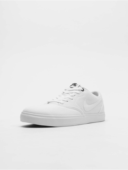 wide range 100% top quality free shipping Nike SB Check Solar Canvas Sneakers White/White/Black