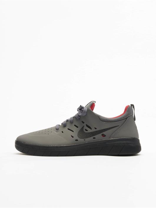 Nike SB Sneakers Nyjah Free Skateboarding šedá