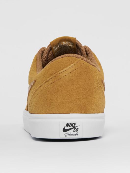 Nike SB Sneakers Check Solarsoft Skateboarding béžová