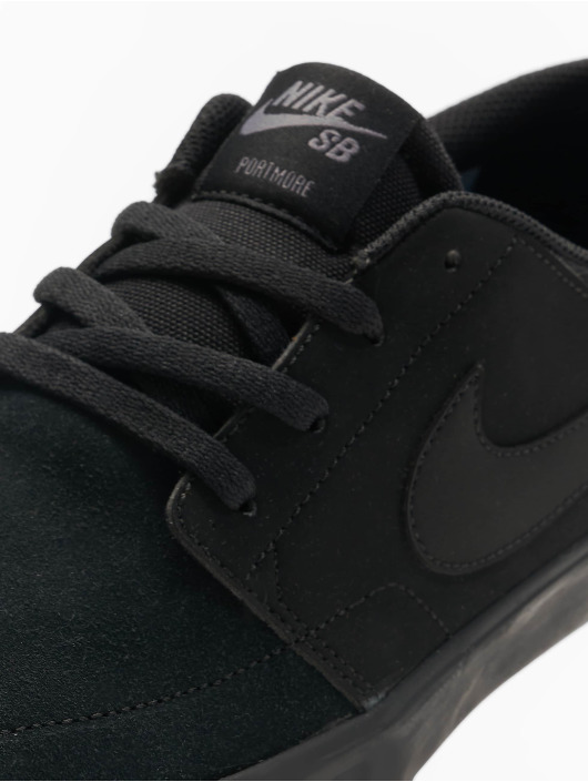 Nike SB Sneakers Solarsoft Portmore II Skateboarding czarny