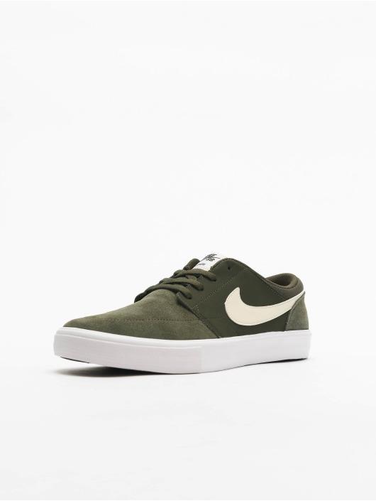 Nike SB Portmore II Solar Sneakers SequoiaPale IvorySequoiaKumquat