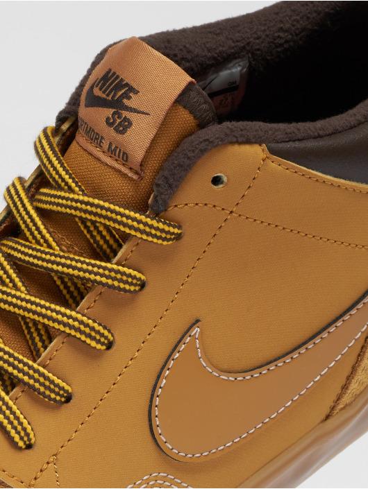 Nike SB Sneakers Portmore Ii Solarsoft Mid Bota hnedá