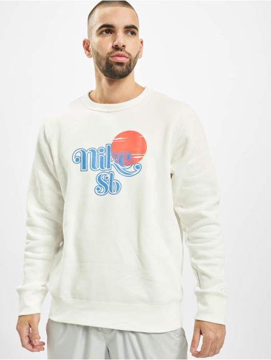Nike SB Sweat & Pull Icon Crew Sunrise blanc