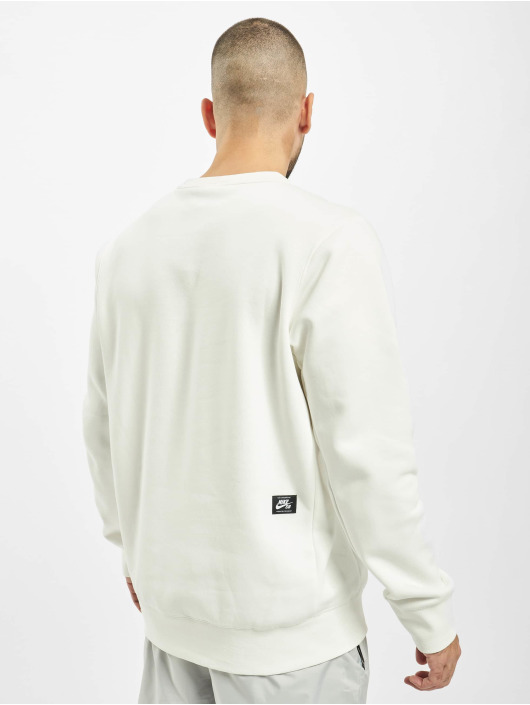 Nike SB Sweat & Pull Icon Crew Sunrise blanc