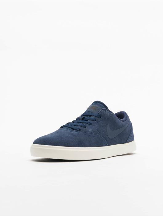 Nike SB Tøysko SB Check Suede (GS) blå