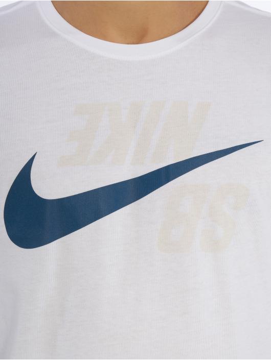 Nike SB T-Shirt manches longues Logo blanc
