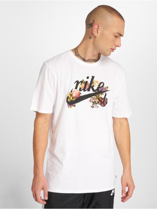 Nike SB T-Shirty Dry bialy
