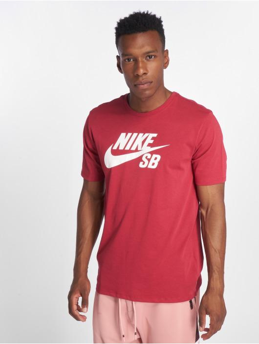 Nike SB T-Shirty SB Logo czerwony