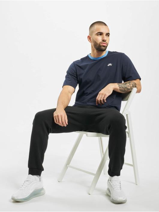 Nike SB T-Shirty Nordic Rib niebieski