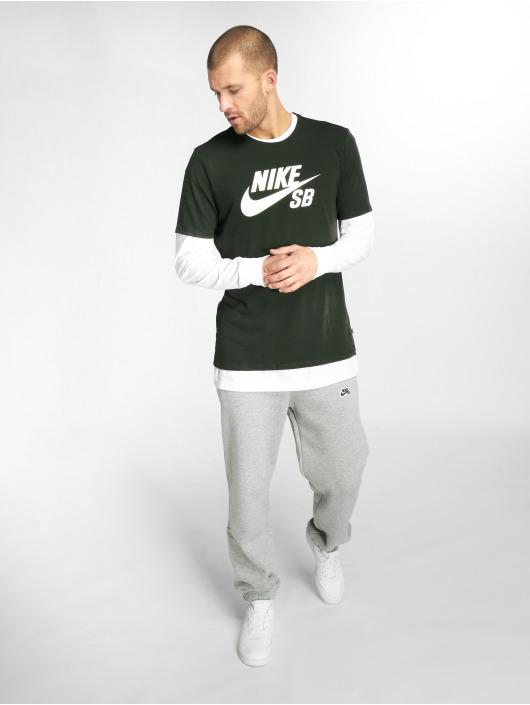 Nike SB T-skjorter Logo blå