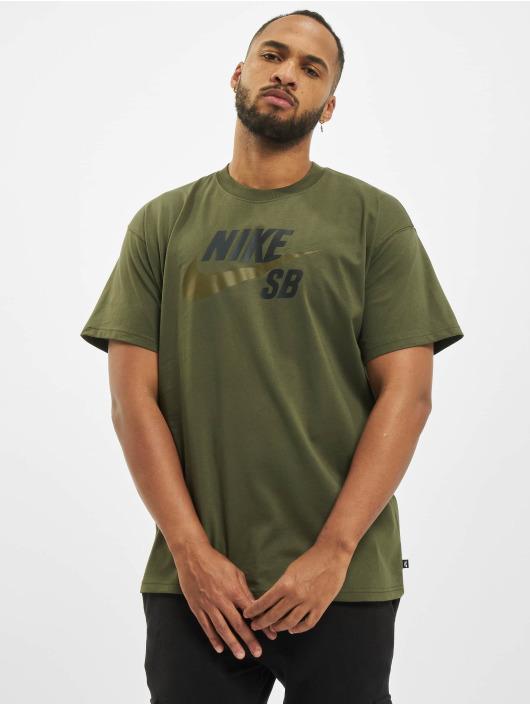 Nike SB T-skjorter Logo khaki