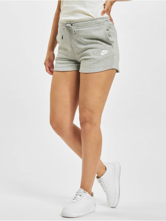 Nike Shorts W Nsw Essntl Flc Hr Ft grå