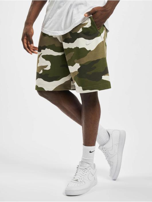 Nike Shorts Club Camo oliven
