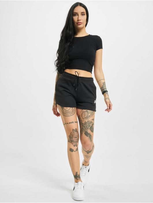 Nike shorts W Nsw Essntl Flc Hr Ft zwart