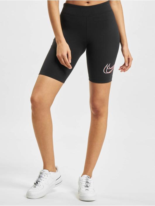 Nike shorts W Nsw Essntl Prnt zwart