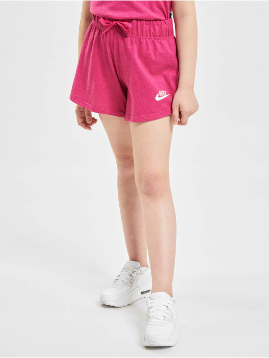 Nike Shortsit G Nsw 4in Short Jersey vaaleanpunainen