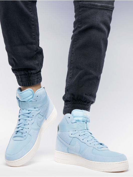 nike herren sneaker air force 1 high 39 07 suede in blau 536968. Black Bedroom Furniture Sets. Home Design Ideas
