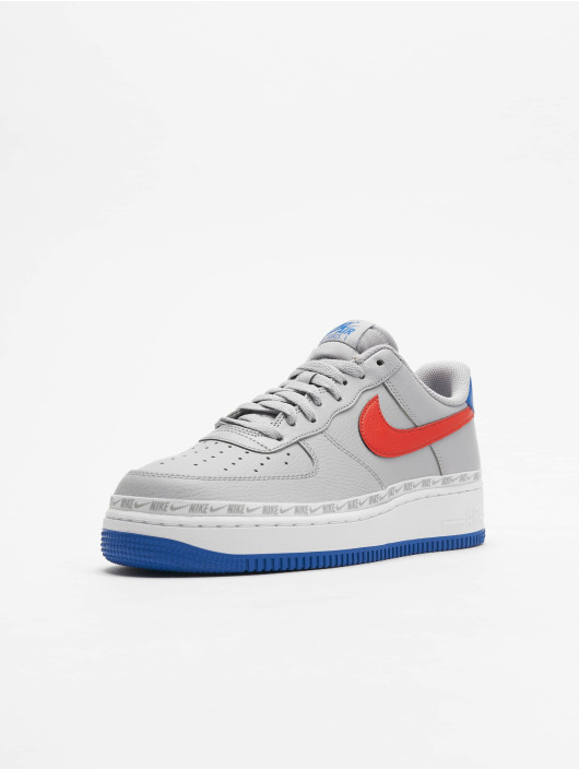 Nike Air Force 1 `07 LV8 Sneakers Wolf GreyHabanero RedGame Royal