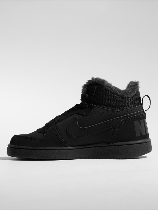 Nike Sneaker Court Borough Mid Winter schwarz