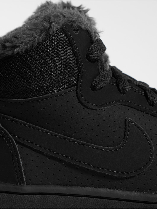 Nike Sneaker Court Borough Mid Winter schwarz