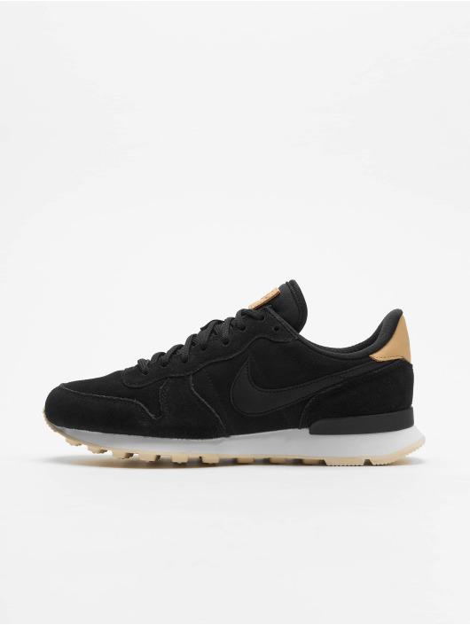 Nike W Internationalist Prm Low Top Sneakers BlackBlackSummit WhiteLight Cream
