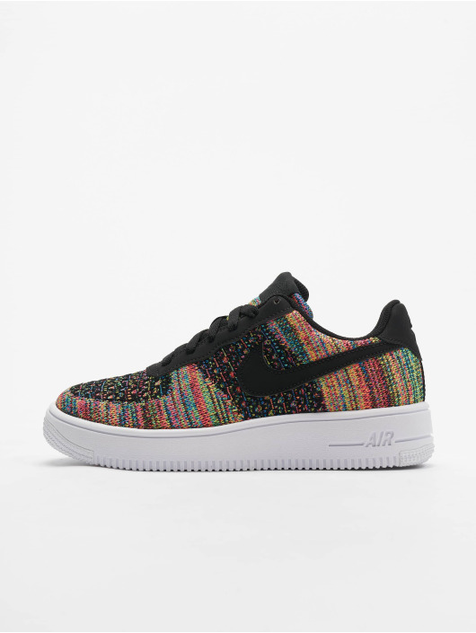 Nike Air Force 1 Flyknit 2.0 (GS) Sneakers Black/Black/Hyper Pink/Volt