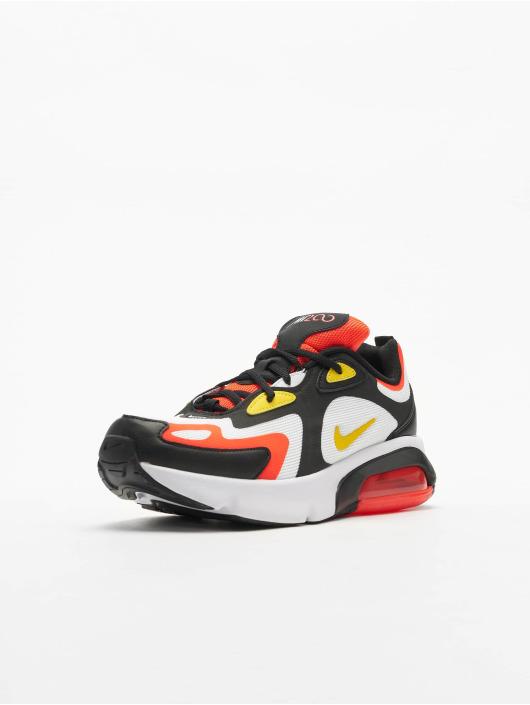 Nike Air Max 200 (GS) Sneakers BlackChrome YellowWhiteBright Crimson
