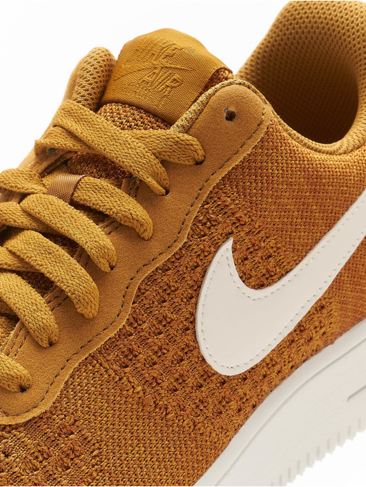 Nike Sneakers Air Force 1 Flyknit 2.0 gold colored