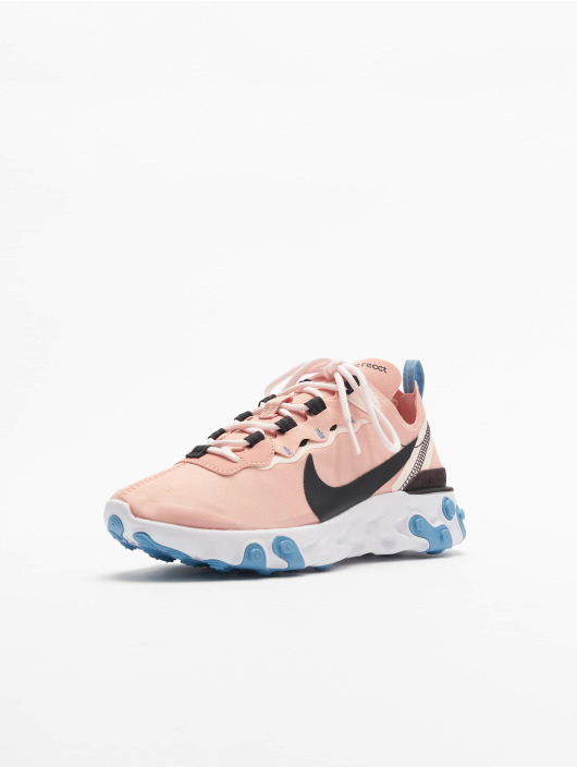 Nike React Element 55 Sneakers Coral StardustOil GreyLight Soft Pink
