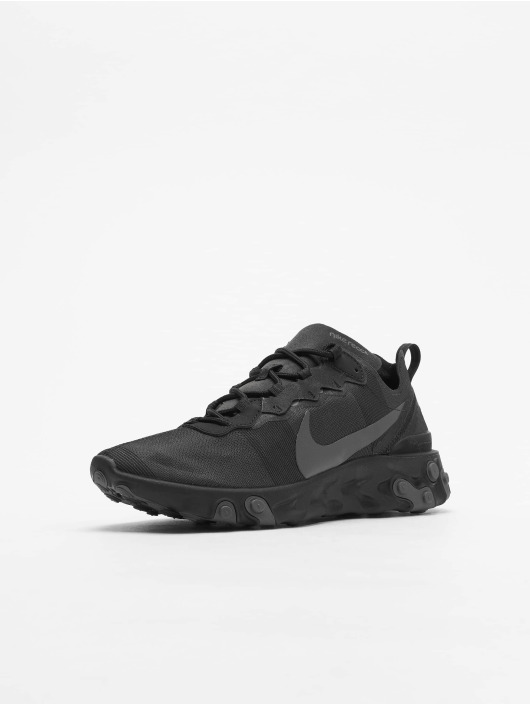 Nike React Element 55 Premium Sneakers Metallic SilvernBlackPure Platinum