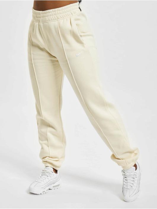 Nike Spodnie do joggingu W Nsw Essntl Flc Hr Clctn bezowy