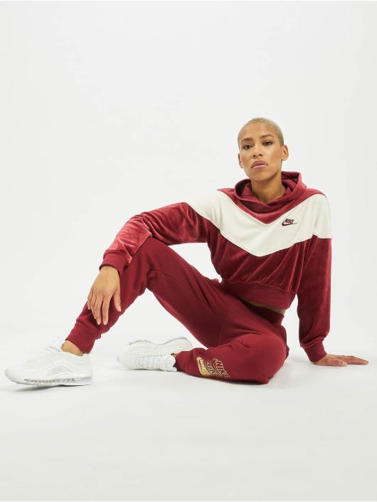 Nike Spodnie do joggingu BB Shine czerwony