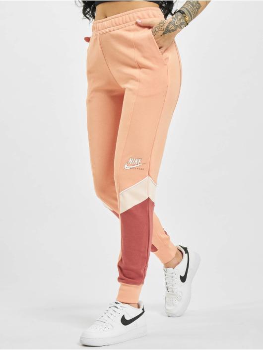 Nike Spodnie do joggingu W Nsw Heritage Jogger Flc Mr rózowy