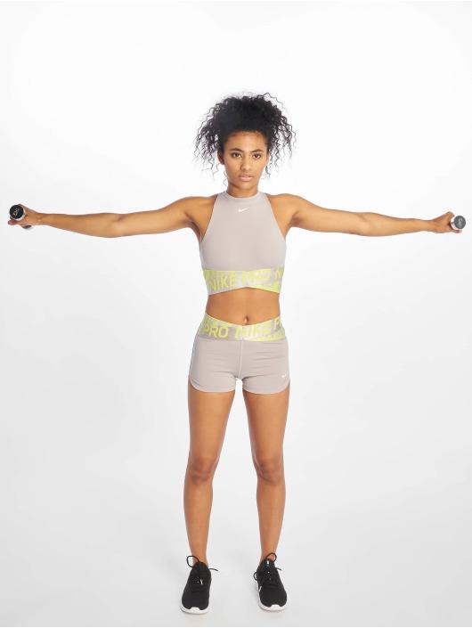 Nike Sport Tanks Intertwist 2 Crop grijs