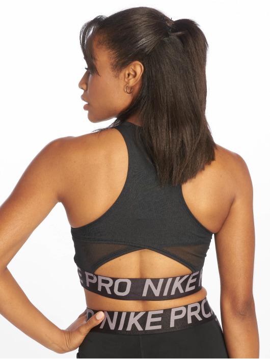 Nike Sport Tanks Pro Crop schwarz