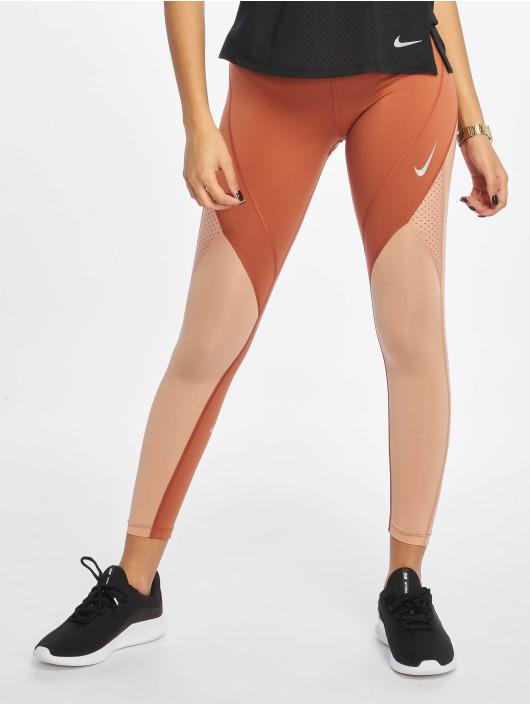 Nike Sportleggings Epic Lux 7/8 Mesh MR oransje