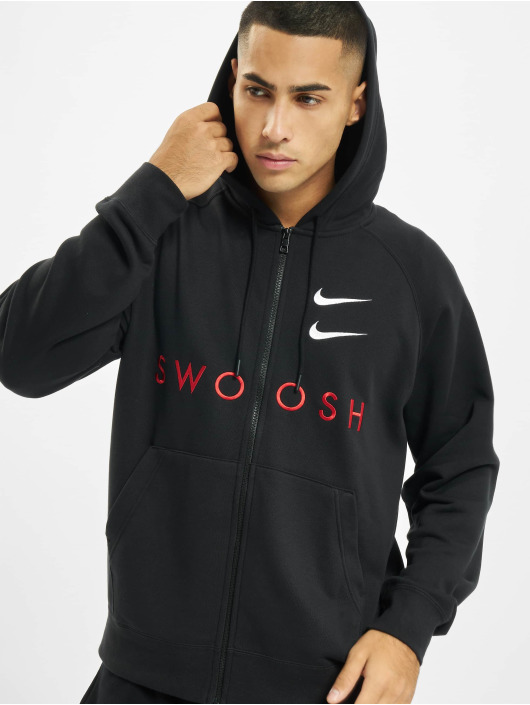 Nike Sudaderas con cremallera Sportswear Swoosh negro