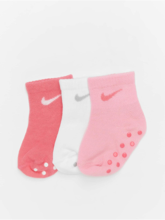 Nike Sukat Core Swoosh Gripper 3PK vaaleanpunainen