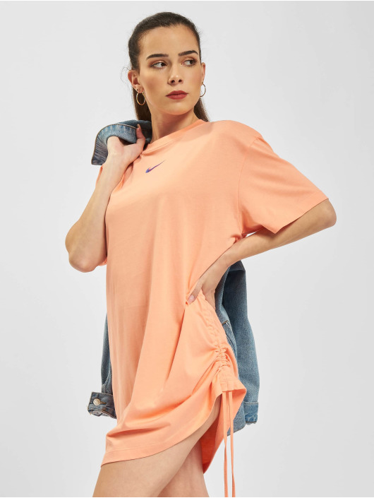 Nike Sukienki W Nsw Essntl Prnt rózowy