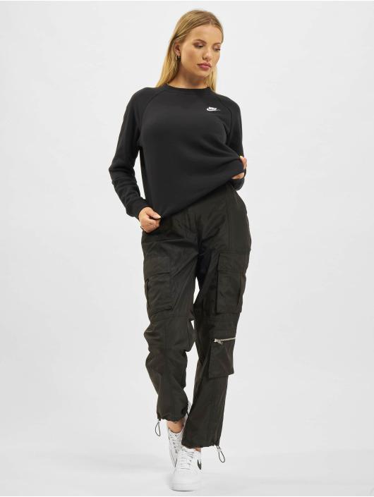 Nike Svetry Essential Crew Fleece čern